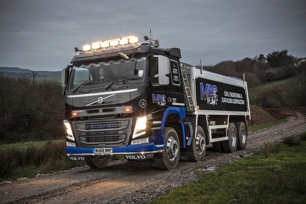 MacPlant Construction New Volvo FM Tipper is King of the Hills in Devon