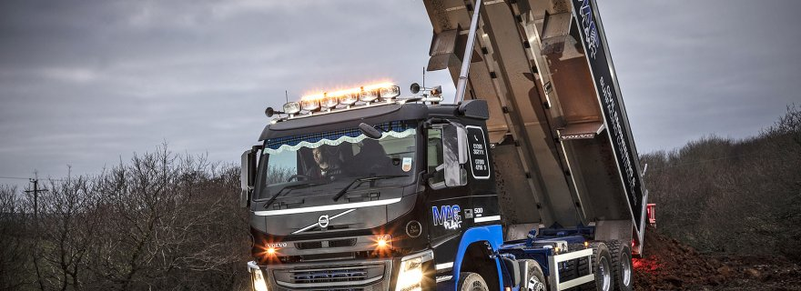 MacPlant Construction's New Volvo FM Tipper is King of the Hills in Devon