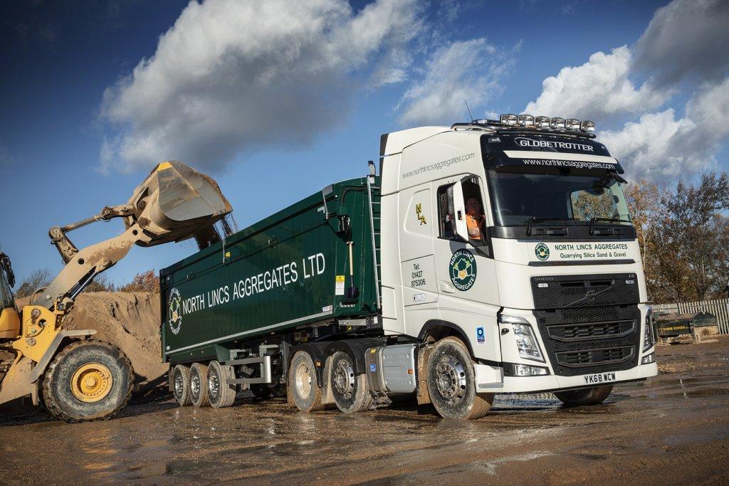 North Lincs Aggregates Recent Delivery of 11 New Volvo Trucks