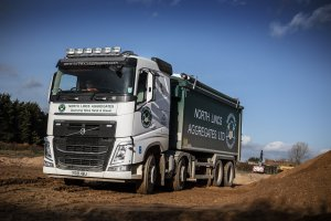 North Lincs Aggregates has recent taken delivery of 11 new Volvo trucks - nine tractor units and two FH 8x4 tipper chassis