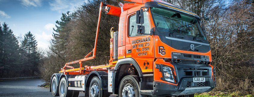 Buchanan Skip Hire on a Roll with the New Volvo FMX 8x4 Hooklift