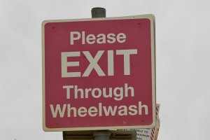 Please Exit Through Wheelwash
