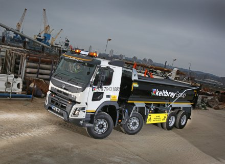 Keltbray Group, a leading UK specialist business that offers engineering, construction, demolition, decommissioning, remediation, rail, power transmission & distribution, reinforced concrete structures and environmental services, has added 14 new Volvo FMX rigid trucks to its fleet of vehicles.