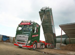 A recently-delivered Volvo FH16-750 6x2 Lite pusher axle tractor unit marks ten years ownership by the family's third generation and a change of operating name for Chipping Campden-based, Jeffreys Transport.